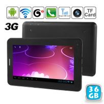 Yonis - Tablette tactile 3G Android 4.0 7 pouces Gsm WiFi Hd 3D 36 Go Noir