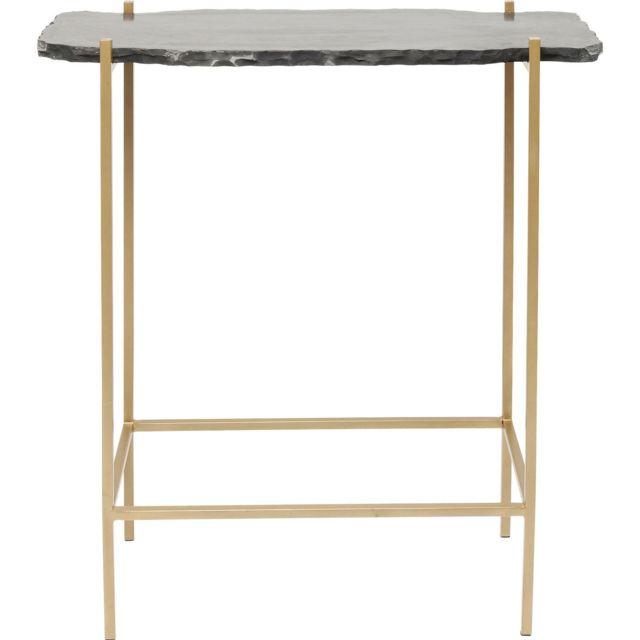 Karedesign Table de bar Piedra noire 60x30cm Kare Design