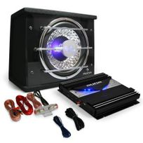 "ELECTRONIC STAR - Auna ""Black Line 100"" Pack sono auto Set Hifi auto Subwoofer 25cm + ampli 1400W"