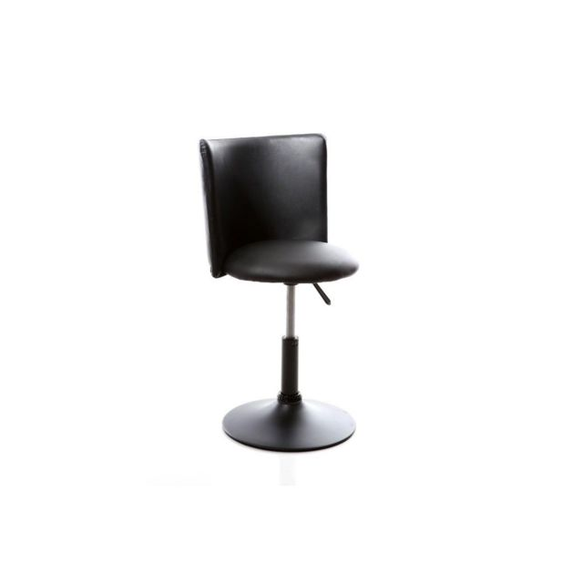 la moitié a3bb6 9124b Chaise de bureau enfant noire New Rock