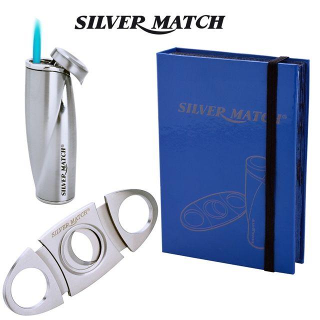 Silver Match Coffret Special cigare Lord Kenton Briquet et Coupe-cigare