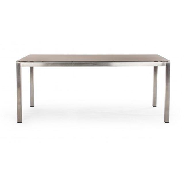 Table Basse En Acier Inoxydable Dim L 180 X P 90 X H 75 Cm