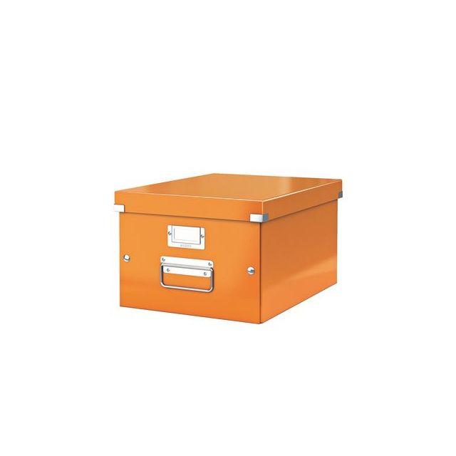 leitz bo te de rangement carton click store wow h 20 x l 28 x p 36 8 cm orange pas cher. Black Bedroom Furniture Sets. Home Design Ideas