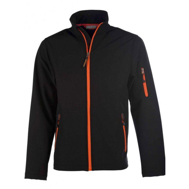 Fashion Cuir Blouson polyester leger zip contrasté Couleur - noir, Taille Homme - M