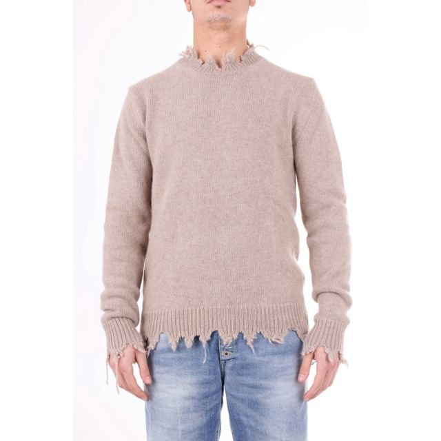 Overcome Homme Oc11U904BEIGE Beige Laine Maille