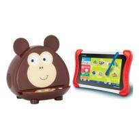 """Clementoni - Pack Tablette Enfant 7"""" Ma Première Clempad avec enceinte Bluetooth Kitsound Monkey"""