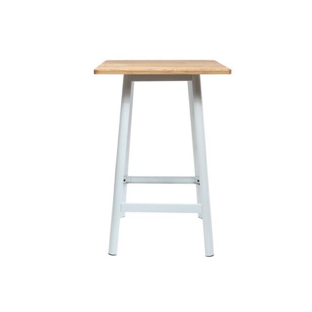 Miliboo Table de bar design blanche Jones