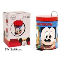 Mickey - Petite poubelle en métal et à pédale enfant