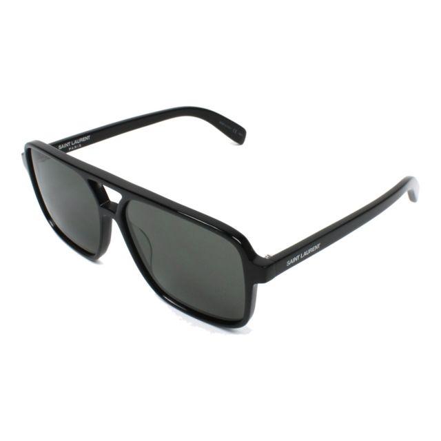 aeef3565082a17 Yves Saint Laurent - Lunettes de solei Sl-176 001 Mixte Noir - pas cher  Achat   Vente Lunettes Tendance - RueDuCommerce
