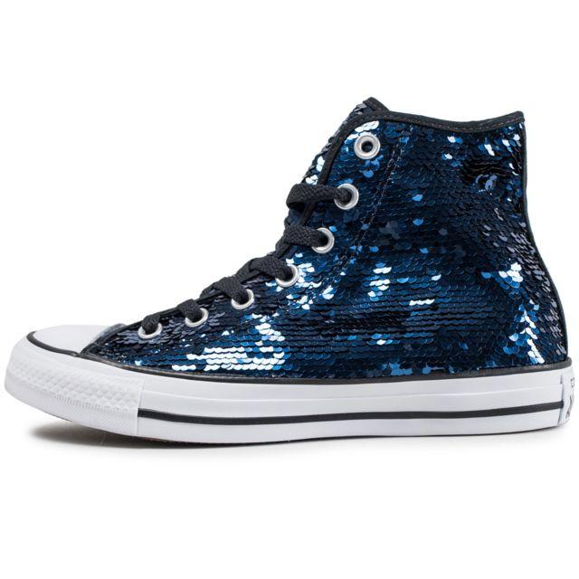 2a7fc2c34c753 Converse - Chuck Taylor All Star Sequin Bleu Marine - pas cher Achat ...