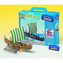 CONSTRUCTO - Maquette bateau en bois : Ligne Junior : Drakkar de viking
