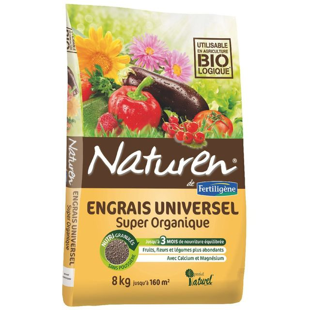 Naturen Engrais complet super organique Sac 8kg