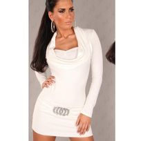 Cendriyon - Robe pull blanche Coco Glamour