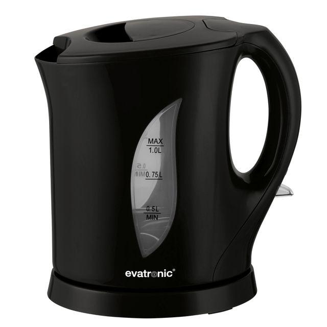 EVATRONIC bouilloire 1l 1650w noir - 000617