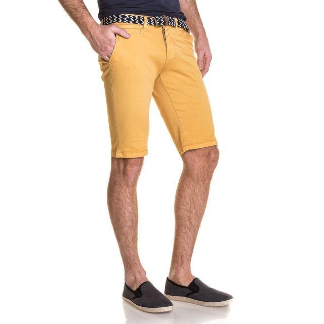 Cher Chino Bermuda Pas Jeans Homme Moutarde 5 Achat Poches Blz lFK1cJT