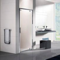 Novellini - Porte de douche pivotante verre transparent - Lunes G - 66 à 72 cm