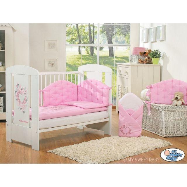 Autre Lit bébé chic rose pâle + parure 4 pièces