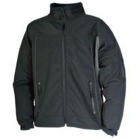 Cepovett - Veste Softshell Craft Worker - Coloris Noir - Coloris:Noir/gris - Taille:L