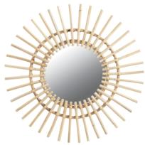 AUBRY GASPARD - Miroir rotin Soleil