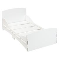Kidsaw - Lit enfant blanc en bois simple 70 x 140 cm