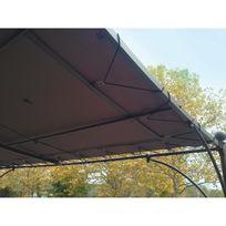 Couleurs Du Monde - Toile universelle pour tonnelle adossée 3 x 3m polyester 200gr/m² - Taupe