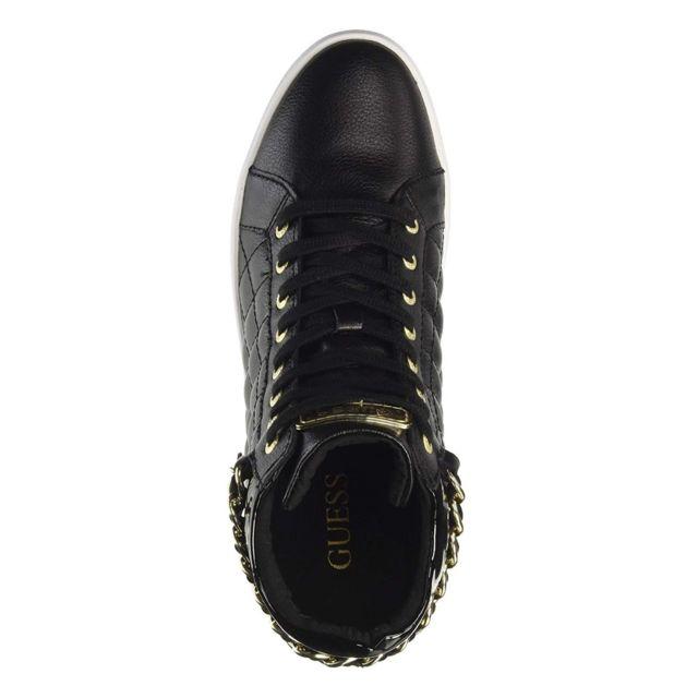 Guess Sneakers Cuir Talon Compensé Flger3 Lea12 Gerta