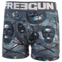 Freegun - Sous vêtement boxer Skull blanc/nv boxer jr Bleu 20489
