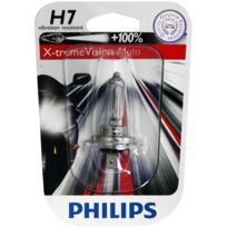 Philips - Ampoule phare XtremeVision Moto +100% H7 12V 55W Px26D