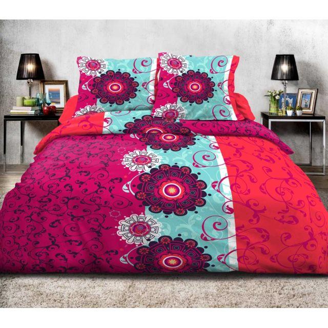 linge de lit flamenco Le Linge De Jules   Housse de couette 220x240 + 2 taies Pur coton  linge de lit flamenco