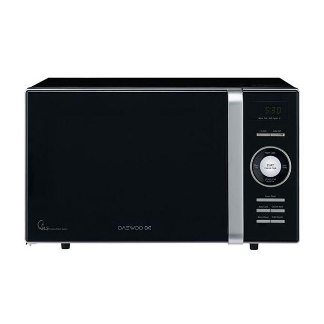 Totalcadeau Micro-ondes avec Gril et plateau tournant Noir - Puissance grill 800 W