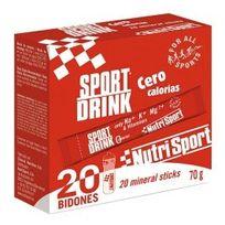 NutriSport - Boisson isotonique Sport Drink Zéro Calories 20 sticks