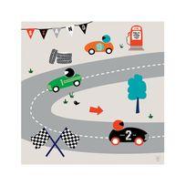 "Lilipinso - Impression sur toile ""London Racing"" 50x50 cm"