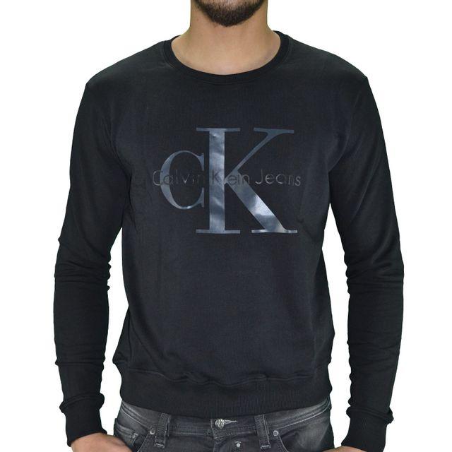 Classic 01 Sweat Shirt Homme Calvin Noir Pas Klein ng4pqp