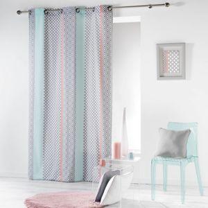 sans marque rideau oeillets baltic existe en deux longueurs dimension rideaux voile. Black Bedroom Furniture Sets. Home Design Ideas