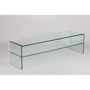 inside 75 meuble tv design agate en verre transparent pas cher achat vente meubles tv hi. Black Bedroom Furniture Sets. Home Design Ideas
