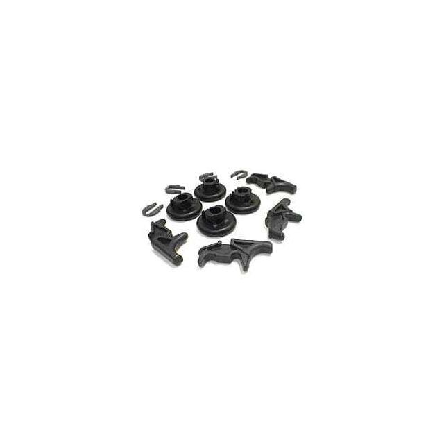 Miele Roulettes de glissieres + clips par 4 pour Lave-vaisselle