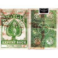 Bicycle - Distressed Expert Back Green Playing Cards cartes à jouer Vert