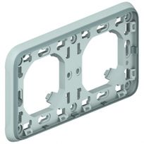 Legrand - plaque d'encastrement plexo 2 postes horizontal composable