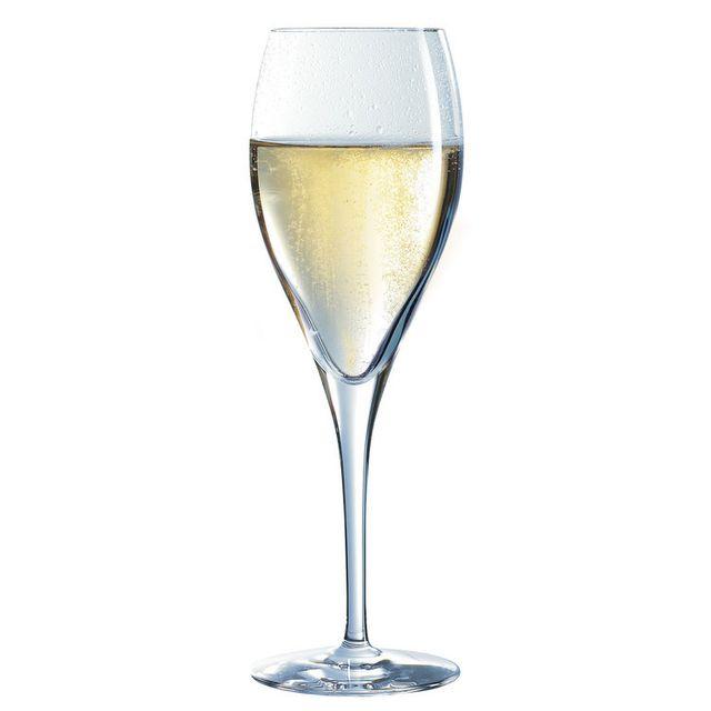 Chef & Sommelier Flûte à champagne en kwarx transparent 26cl - Coffret de 6 ŒNOLOGUE