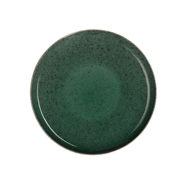 Asa Assiette plate en grès D.26.5 cm vert - Lot de 6 Saisons Algo