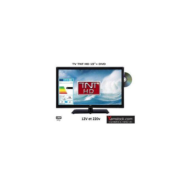 Antarion - Télévision Tv + Dvd Led 19 Hd Led 12V /220V camping car