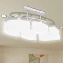 Vidaxl - Lustre/ Lampe de Plafond Contemporaine 6 Abats jours en verre