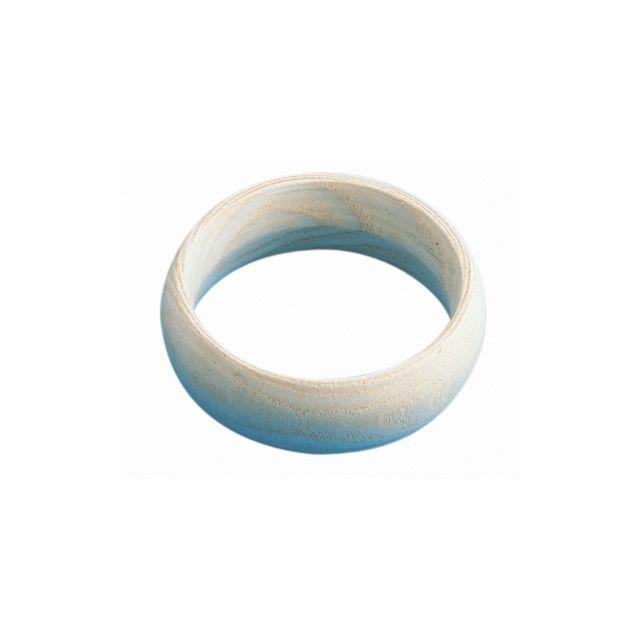Pw International - bracelet en bois forme bombee d70-h25mm - lot de 5