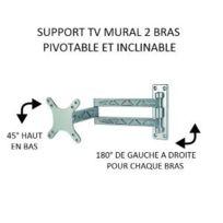 Antarion - Support de télévision Lcd 2 bras articulé en alu