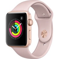 APPLE - Watch 3 42 - Alu or / Bracelet Sport rose des sables