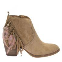Alpe Woman - Boots Franges Et Plumes