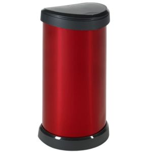 curver poubelle de cuisine pression 40 litres aspect m tal ronde bliss pas cher achat. Black Bedroom Furniture Sets. Home Design Ideas