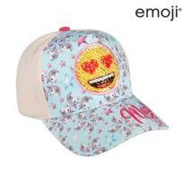 447178501c50 Marque Generique - Casquette enfant Emoji rose et bleu - Casquette  protection solaire enfant