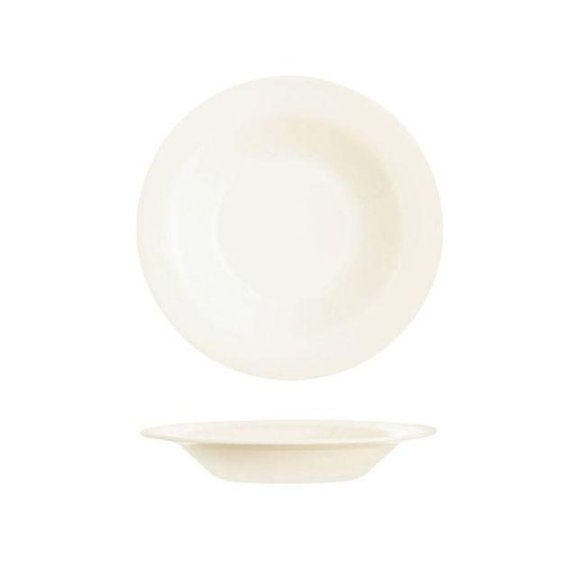 Arcoroc Assiette creuse ronde 22cm blanc-crème en zenix - Lot de 6 - Intensity