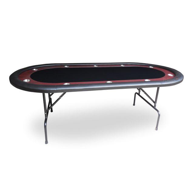 Pokeo Table de Poker Racetrack 10 joueurs noir